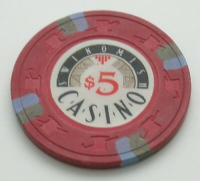 Swinomish $5 Casino Chip Anacortes Washington H&C Paulson FREE SHIPPING