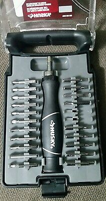 Husky Precision Ratcheting Screwdriver Set Free Turning End Cap (21-Piece) *40