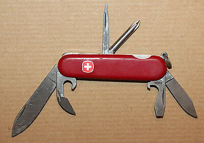 """Wenger Swiss Army Knife Red 3 1/4"""" pocket knife CANYON 2 blades, Phillips (W279)"""