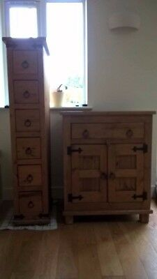Solid, chunky, hand made pair of pine units