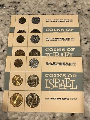 COINS OF ISRAEL 1965 PROOF-LIKE ISSUES 6 COIN SET- Group Of 3