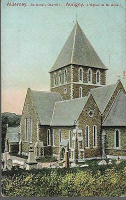 Alderney, Channel Islands - St. Anne's Church - Peacock postcard c.1905
