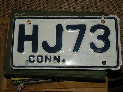 Connecticut Motorcycle Plate 1966 Issue NICE!!