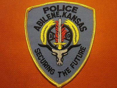Collectible Kansas Police Patch Abilene New