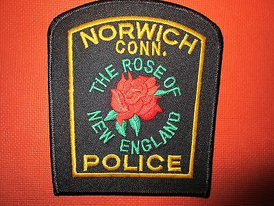 Collectible Connecticut Police Patch Norwich New