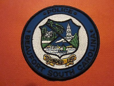 Collectible South Carolina Police Patch, Beaufort, New