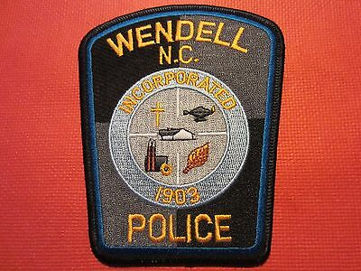 Collectible North Carolina Police Patch, Wendell, New