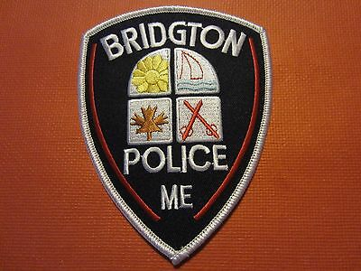 Collectible Maine Police Patch, Bridgton, New
