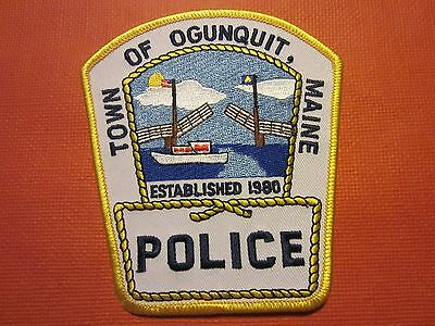 Collectible Maine Police Patch Ogunquit New