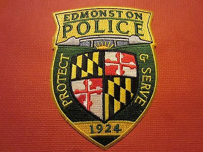 Collectible Maryland Police Patch, Edmonston, New