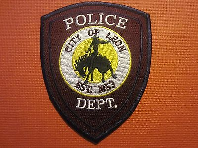 Collectible Iowa Police Patch Leon New