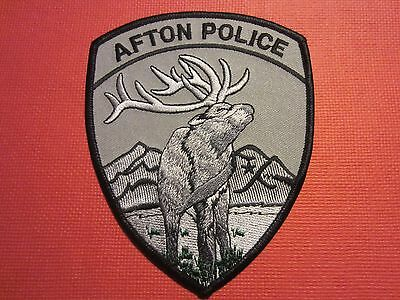 Collectible Wyoming Police Patch Afton New