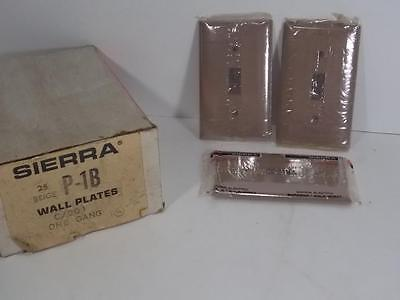 Nos Lot Of 3 Sierra P-1B Beige Wall Plate Switch Covers Single Gang