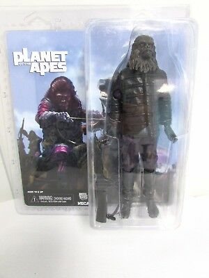 """NECA Planet of the Apes Gorilla Soldier 8"""" Action Figure - Clothed - Brand New"""