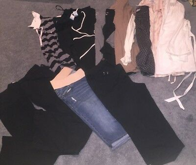 Lot Of Mixed Maternity Large/ XLARGE Tops Jeans Capris 13pc Motherhood/ Old Navy