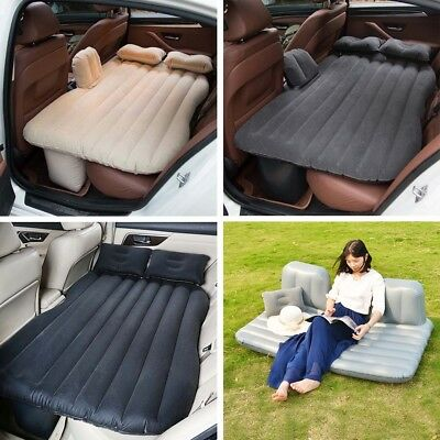 Inflatable Car Back Seat Mattress Air Bed Rest Sleeping Camping SUV MPV Couch