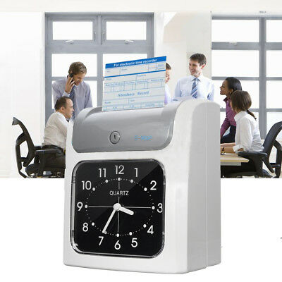 Electronic Employee Time Attendance Time Clock Recorder Bundy Timecards w/ Cards