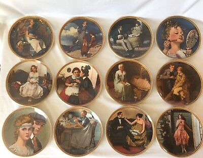 """Norman Rockwell """"Rediscovered Women"""" collection, Complete set of 12 plates"""