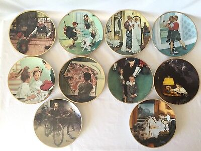 """Norman Rockwell """"Coming of Age"""" collection, Complete 10 plate set"""