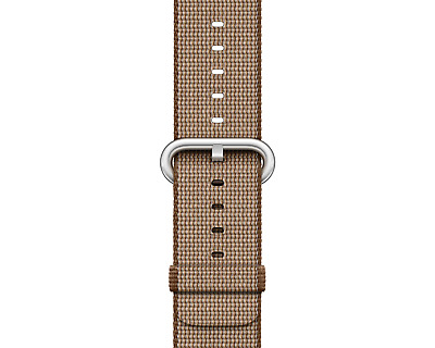 SALE NEW GENUINE Apple Watch Woven Nylon 38mm (MNK42ZM/A) Toasted Coffee/Caramel
