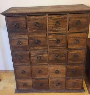 Gorgeous Antique Apothecary Cabinet with 20 drawers