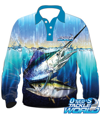 Tackle World Elite Fishing Shirt - Bluewater Series BRAND NEW at Otto's