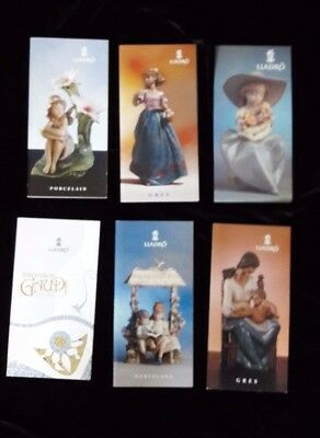 6 x Lladro Porcelain Gres Guadi  COLLECTABLES BROCHURES/LEAFLETS 1998/9 and 2001