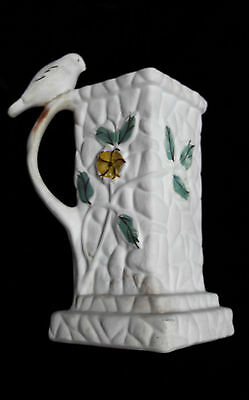 Vintage Pottery Floral Bird and Branch Jug ? by Portland Pottery Cobridge