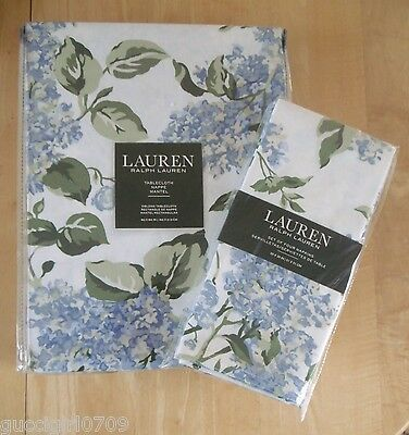 Ralph Lauren Cape Elizabeth Lilac Cotton Tablecloth & Set Of Four Napkins (BNWT)