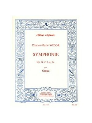 Charles-Marie Widor: Symphonie No.5 in F Op.42 No.1 For Organ . Sheet Music