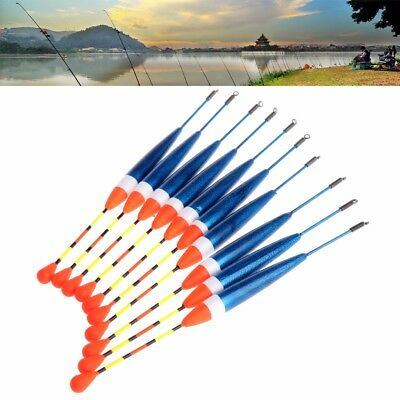 10pcs Carp Fishing Floats Set Buoy Bobber Stick Fish Tackle Vertical 10# 0.6g