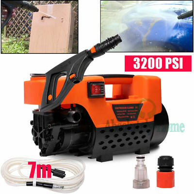 3200 PSI High Pressure Mute Water Cleaner Washer Electric Pump Hose Gurney Easy
