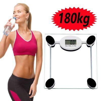 Bathroom LCD Glass Digital Body Scales Weighing Electronic Weight Loss 180kg