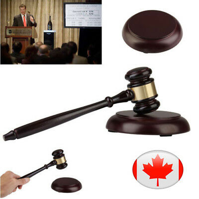 Wooden Handcrafted Wood Gavel Sound Block for Lawyer Judge Auction Executive CA