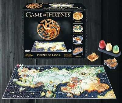 4D Cityscape Game of Thrones 3D Puzzle of Essos (1350 pieces) Inc Dragon Eggs