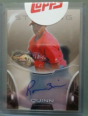 2013 bowman sterling prospect auto card of roman quinn from the phillies