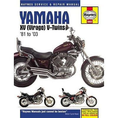haynes manual 0802 yamaha xv535 xv750 xv1100 virago. Black Bedroom Furniture Sets. Home Design Ideas
