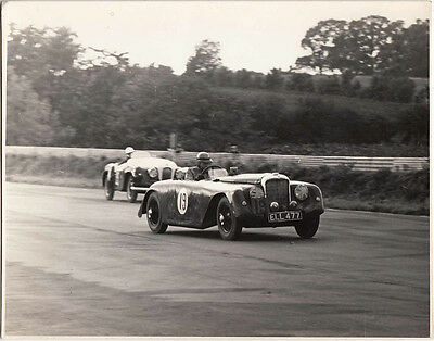ALVIS REG No.ELL 477, CAR No.19, M.C.C FIRST MELLORY PARK MEETING PERIOD PHOTO