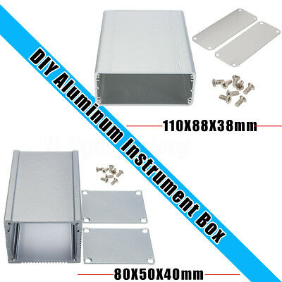 2Type DIY Extruded Aluminum Instrument Box Electronic PCB Enclosure Project Case