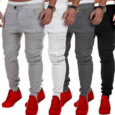 Mens Slim Fit Jogging Sport Tracksuit Bottoms Joggers Sweat Pants Trousers
