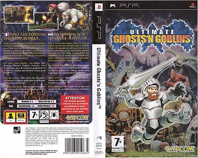 Ultimate Ghosts'n Goblins PSP Replacement Box Art Case Insert Inlay Cover Scan