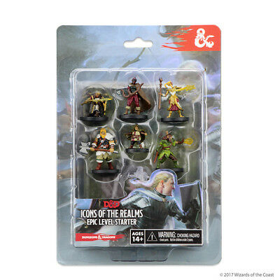 Dungeons & Dragons - Icons of the Realms Epic Level Starter Set Miniatures [New]
