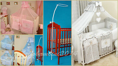 7-pcs BABY BEDDING SET/BUMPER/CANOPY/HOLDER to fit COT(120/60) or COTBED(140/70)