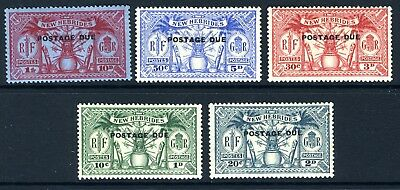 NEW HEBRIDES-1925 Postage Dues.  A lightly mounted mint set Sg D1-D5