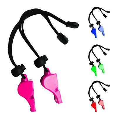 2pcs Emergency Safety Whistles with Wrist Strap for Scuba Kayaking