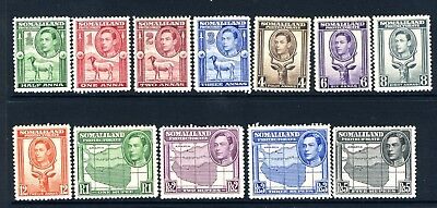 SOMALILAND PROTECTURATE-1938 An unmounted mint Definitive set of 12 values Sg 93