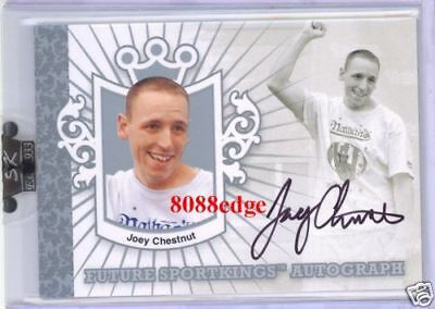 2007 Sport Kings Autograph Auto Silver: Joey Chestnut/80 Hot Dog Eating Champion