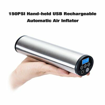 Rechargeable LCD Display Air Inflator Portable Electric Car Ride Bicycle Pump A@