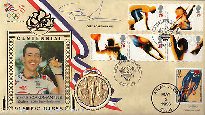 1996 Olympics - Benham Gold Medal Official - Signed by CHRIS BOARDMAN