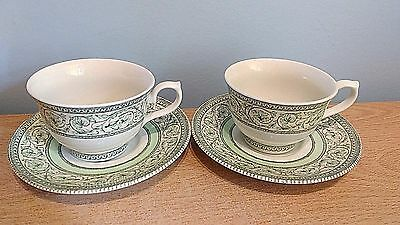 RHS Applebee Collection 2 x Tea Cups and Saucers. Excellent Condition.